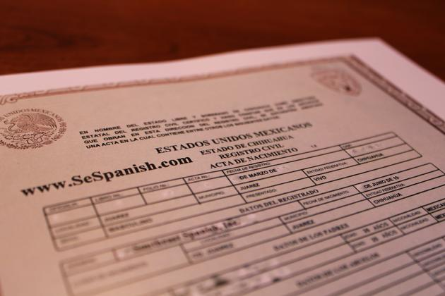 Uscis approved birth certificate translation traduccion sample of a birth certificate from mexico yelopaper Images